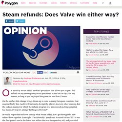 Steam refunds: Does Valve win either way?