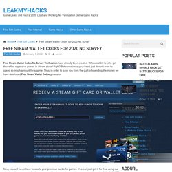 Free Steam Wallet Codes for 2020 No Survey - Get Steam Games for Free