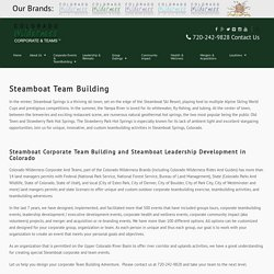 Steamboat Team Building - Colorado Wilderness Corporate & Teams