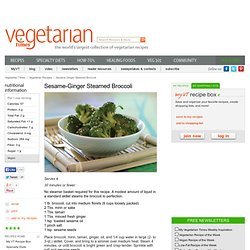 Sesame-Ginger Steamed Broccoli Recipe