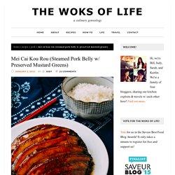 Mei Cai Kou Rou (Steamed Pork Belly w/ Preserved Mustard Greens) - The Woks of Life