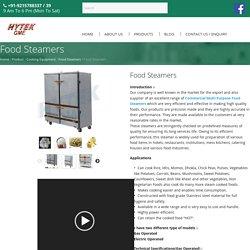 Food Steamer Manufacturer In India - Hytek Food Equipments