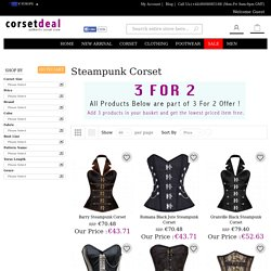Full Europe Steampunk Corset Collection