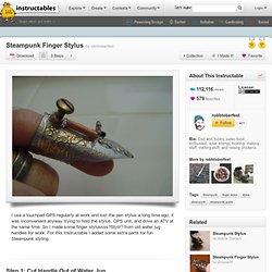 Steampunk Finger Stylus