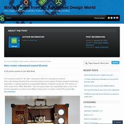 Maker creates a Steampunk-inspired 3D printer