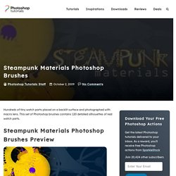 Photoshop Tutorials - Steampunk Materials Photoshop Brushes | Ph