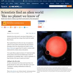 New breed of steamy alien planet found - Technology & science - Space - Space.com
