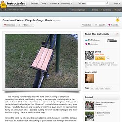 Steel and Wood Bicycle Cargo Rack