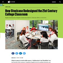 How Steelcase Redesigned the 21st Century College Classroom
