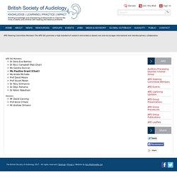 APD Steering Committee Members - British Society of Audiology