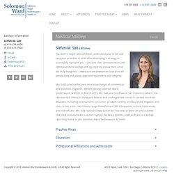 Stefani M. Salt - Solomon Ward Attorney