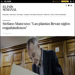 """Stefano Mancuso: """"Las plantas llevan siglos engañándonos"""""""