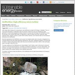 Steffturbine: high-efficiency micro turbine
