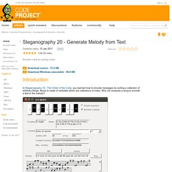Steganography 20 - Generate Melody from Text