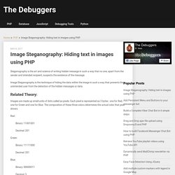 Image Steganography: Hiding text in images using PHP - The Debuggers