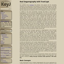 KeyJ's Blog : Blog Archive » Real Steganography with TrueCrypt