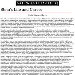 Stein's Life and Career