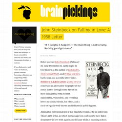 John Steinbeck on Falling in Love: A 1958 Letter – Brain Pickings
