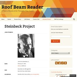 Steinbeck Project « Roof Beam Reader