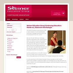 Continuing Education at Steiner