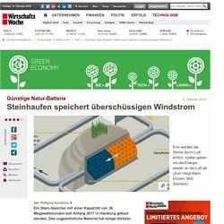 Günstige Natur-Batterie: Steinhaufen speichert überschüssigen Windstrom