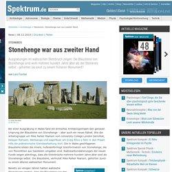 Steinkreis: Stonehenge war aus zweiter Hand