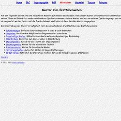 (Steinmaus) Homepage - Brettchenweben: Muster