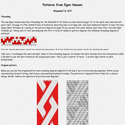 (Steinmaus) Homepage - Tablet weaving: Patterns from Egon Hansen (Elisenhof E-417)