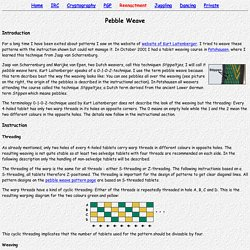 (Steinmaus) Homepage - Tablet Weaving: Instruction (Pebble Weave)