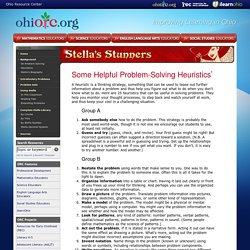 Stella's Stunners > Heuristics