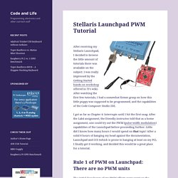 Stellaris Launchpad PWM Tutorial