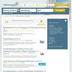 Stellenangebote aus den Bereichen Bildung/ Erziehung/ Soziale Berufe - stellenanzeigen.de
