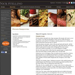 Nick Stellino - Potato Croquettes