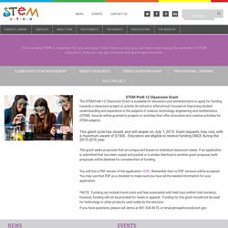 STEM Classroom Grant - Welcome to STEM