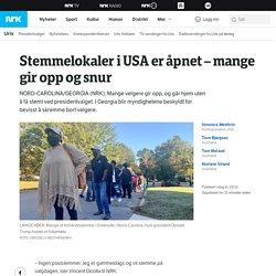 Stemmelokaler i USA er åpnet – mange gir opp og snur – NRK Urix – Utenriksnyh...