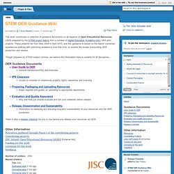 stemoer / STEM OER Guidance Wiki