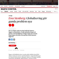 Ewa Stenberg: Globalisering gör gamla problem nya