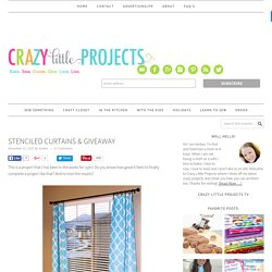 Stenciled Curtains & Giveaway