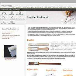 Stenciling Equipment » youstencil.com.au