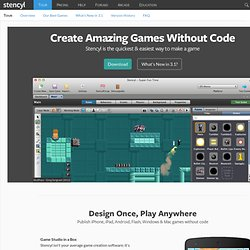 Make iOS, Android and Flash Games with Stencyl