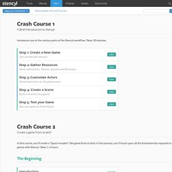 Stencylpedia - Crash Courses