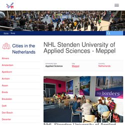 Study at NHL Stenden University of Applied Sciences in Meppel
