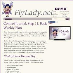 Step 11: Basic Weekly Plan