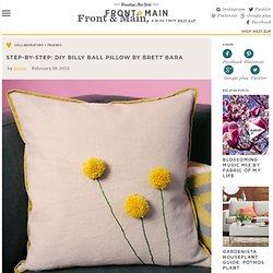 Step-by-Step: DIY Billy Ball Pillow By Brett Bara