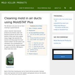 Step By Step HVAC mold removal.