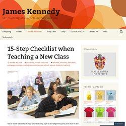 15-Step Checklist when Teaching a New Class