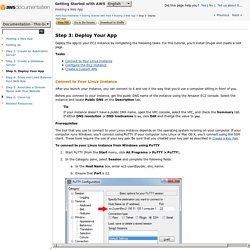 Step 3: Deploy Your App - Getting Started with AWS