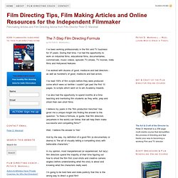 Film Directing and Film Making Tips for the Independent Filmmaker &... - StumbleUpon