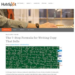The 7-Step Formula for Writing Copy That Sells