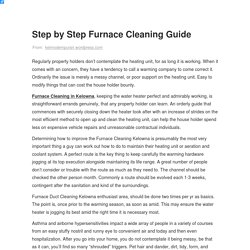 Step by Step Furnace Cleaning ...